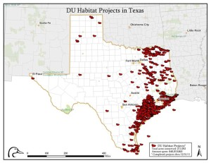 Ducks Unlimited projects in Texas, an image in Texas Aquatic Science by author Rudolph Rosen