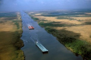 Intercoastal waterway, an image in Texas Aquatic Science by author Rudolph Rosen