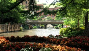 Urban river, San Antonio river walk, an image in Texas Aquatic Science by author Rudolph Rosen