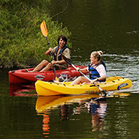 Kayakers, an image in Texas Aquatic Science by author Rudolph Rosen