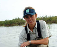 Benthic ecologist, an image in Texas Aquatic Ecosystem Science by author Rudolph Rosen